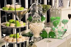 Green & white candy bar. Your Event Solution | YES.