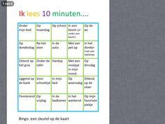 Leesbingo Gevonden op pinterest: vertaald en aangepast uit het Engels. Een leuke manier om kinderen gemotiveerd te laten lezen in bijv. een vakantie. http://www.startblokachterveld.nl/docs/leesbingo.pdf