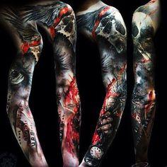 Диалоги Pirate Skull Tattoos, Skull Sleeve Tattoos, Best Sleeve Tattoos, Tattoo Sleeve Designs, Body Art Tattoos, Neck Tattoo For Guys, Tattoos For Guys, Badass Tattoos, Cool Tattoos