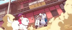 my gif gintama sakata gintoki kagura shimura shinpachi im back kids