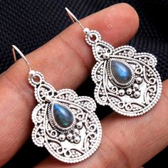 AUTHENTIC BALINESE FASHION DROP DANGLE FILIGREE EARRING FOR WOMEN /& GIRLS 925 STERLING SILVER /& MOTHER OF PEARL UNIQUE DESIGNER MODERN HANDMADE EARRING JEWELRY BY ARTISANS