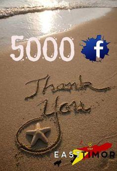 #5000 Likes. Thank you... #Timor-Leste www.visiteasttimor.com