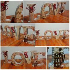 Love / Letras mdf decoradas