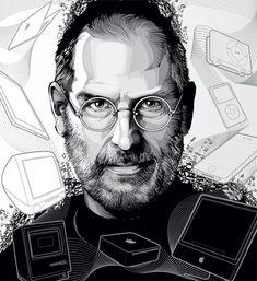 Steve Jobs by Cristiano Siqueira via http://www.crisvector.com