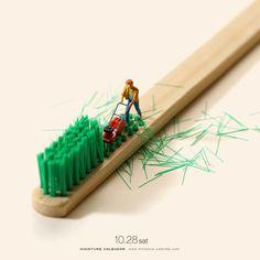 Миниатюрный календарь Танаки Тацуя: повседневность в оригинальных миниатюрах (28фото) » Картины, художники, фотографы на Nevsepic