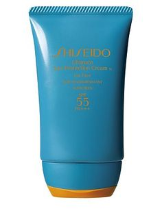 "#SaksLLTrip. I mix this with coconut oil to avoid the ""white"" it leaves on my skin (C'nut oil is a natural sun protector).  I love the shine it gives my skin--and I get the protection!    Shiseido - Ultimate Sun Protection Cream SPF 55 PA+++/2 oz. - #SaksLLTrip."