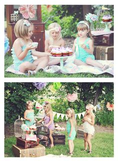 Little girls Tea Party, Pic ideas for Lucie and Ella.