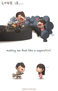 Love is...  making me feel like a SuperStar!  #HJ-Story.com