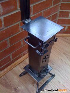 Narrow boat wood stove