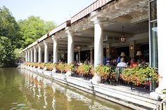 8 NYC Bars With The Most Incredible Views Of The City #refinery29  http://www.refinery29.com/best-views-nyc#slide7  The Loeb Central Park Boathouse Lakeside Restaurant   We may be living in a city of 8.3 million (and, geezus, over 52 million tourists each year), but when you plant yourself in one of the leather easy chairs in the lounge at the Central Park Boathouse, order a Scotch on the rocks (or neat), and watch as the gondolas and rowboats float along the lake, it doesn't matter. Nothing…
