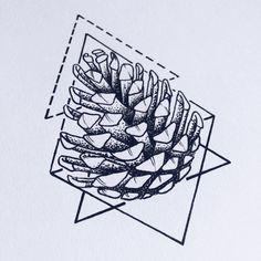 Afbeeldingsresultaat voor pine cone tattoo