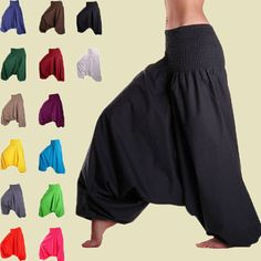 Men & Women Harem Pants Cotton Baggy Yoga Afghani Indian Aladdin Trouser Ge Man #Unbranded #Harem