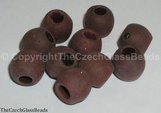 50g Czech Vintage Sintered Saucer Beads 16mm by TheCzechGlassBeads