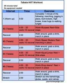 Tabata HIIT Workout     #workouts