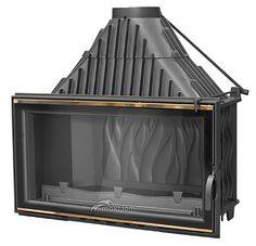 Wkład powietrzny #Maxflam Flat 19-23 kW szlif chrom/gold http://www.wkladykominkowe.net.pl/produkt/wklad-powietrzny-maxflam-flat-19-23-kw-szlif-chromgold #fireplace #kominek
