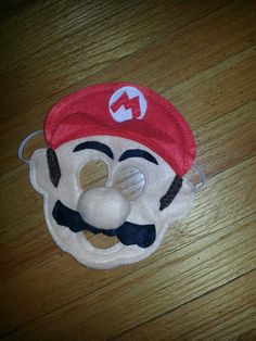 Mario Mask from Super Mario Bros. Felt mask by CraftedCreationsKS, $9.00  https://www.facebook.com/CraftedCreationsbyKrista
