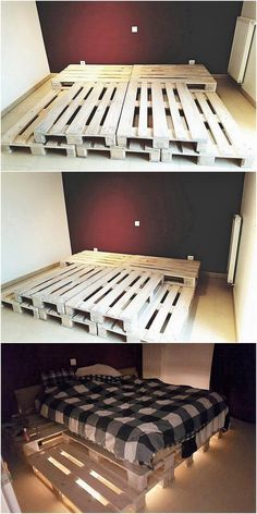 Unique wood Furniture Bed Frames Unique wood Furniture Bed Frames,Interior design / Architecture creative and unique diy wood pallet projects home decor house projects side table wood projects stand ideas Diy Wood Pallet, Wooden Pallet Beds, Wooden Pallet Projects, Pallet Bed Frames, Diy Projects, Beds On Pallets, Pallet Room, Diy Bedroom Projects, Bed Made Out Of Pallets