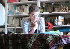 Philosophers at their desk: Hélène Cixous French feminist writer, poet, Philosopher.