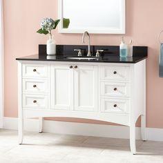 "48"" Cadmon Vanity for Undermount Sink - White"
