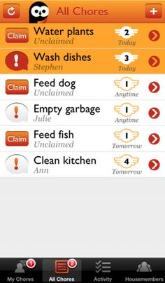 Chorma ($0.00 with additional subscription fee) • Chorma is an easy and fun way to organize chores with your roommates or partner.  This might be useful for siblings in the same house.