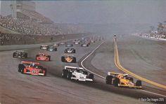 1973 California 500 @ Ontario Motor Speedway. Peter Revson, McLaren M-16C polesitter