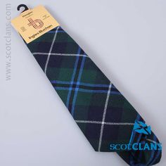 Pure wool tie in Douglas Modern tartan - from ScotClans
