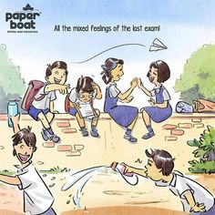 On a trip to the beautiful days of the past - A trip down the memory lane: These Paper Boat illustrations will take you on a ride to your childhood days! Childhood Memories Quotes, School Memories, My Childhood Memories, Quotes On Childhood Innocence, Funny School Jokes, School Humor, Funny Memes, Funny Quotes, My School Life