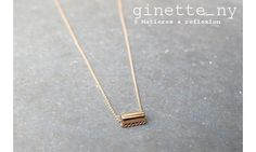 Ginette NY collier Mini-straw or rose 18 #ginette #ginetteny #ginette_ny #fashion #jewel #jewellery #jewelry #necklace #gold #collier #orrose
