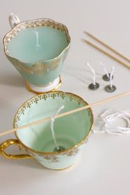 Candle Craft Project for that old china that never gets used!
