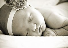 black and white baby girl picture pose