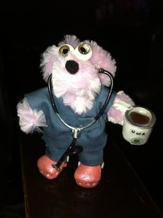 nurse, doctor, physician, bear brooch, Polymer Clay, DIy, crocs, miniature, key chains,decorations, pipe cleaners, coffee cup