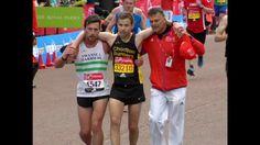London Marathon runner helps struggling rival to finish
