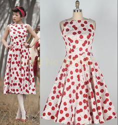 2015 Nieuwe Merk mode Retro Hepburn wind Vrouwen Vintage Vestido 60 s 50 s gedrukt kersenbloesem cherry jurk riem S  XXXL size in   beschrijvingenGrootte, zoals hieronder: groottebustetaillelengte( niet met inbegrip van de strappy)t van jurken op AliExpress.com | Alibaba Groep