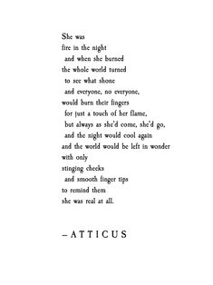 'Fire In The Night' #atticuspoetry #fire