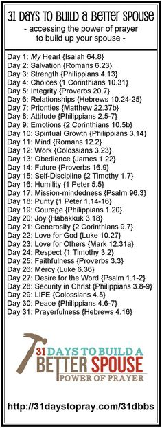 I need to always be working on these verses. My accountability is with God. I need to ensure I am putting into practice His Word and to be the best wife to my hubby I can be! quotes marriage From 31 Days to Pray: A FREE Gift for YOU! Marriage Prayer, Godly Marriage, Marriage Relationship, Marriage Tips, Happy Marriage, Love And Marriage, Relationships, Godly Wife, Strong Marriage