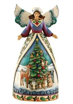 LARGE Amazon.com: Jim Shore Angel With Woodland Animals - Christmas For All, Great and Small: Home & Kitchen