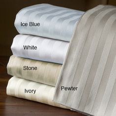 Treat your bedroom or guestroom to a luxurious nights sleep with these Egyptian cotton 800 thread count sheets. Featuring a flat sheet, a fitted sheet, and two pillowcases, this plush bedding set adds a touch of traditional elegance to your home. Cotton Sheet Sets, Bed Sheet Sets, Best Sheets, Egyptian Cotton Sheets, Striped Bedding, Deep Pocket Sheets, Bedding Basics, House