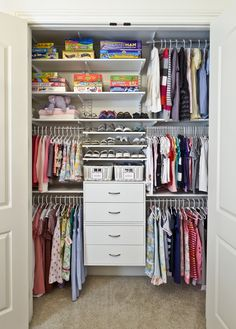 Lowes Closet Systems Closet Contemporary with Adjustable Shelving Carpeting Childrens Clothing Drawers Kids