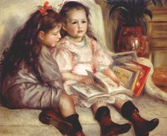 Pierre-Auguste Renoir (French 1841–1919) [Impressionism] Portraits of Two Children, 1895. Private Collection.