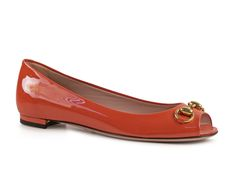 Gucci Rust Patent Leather low heels pumps moccasin shoes - Italian Boutique €308