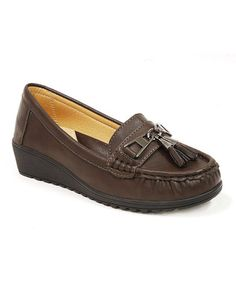 Love this Brown Tassel Loafer on #zulily! #zulilyfinds
