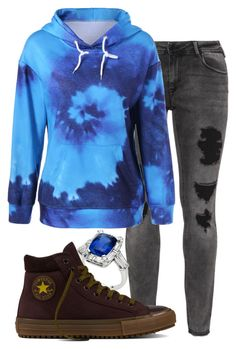 """Untitled #639"" by carenza-spence on Polyvore featuring Zizzi and Converse"