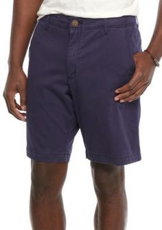 Red Camel Navy Camo Flat Front Shorts