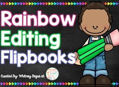 Overview:Get your students motivated to edit their writing with these fun flipbooks! Included are two different versions of the same products. The first version includes a black chalkboard background and the other has a printer-friendly version with a white background.