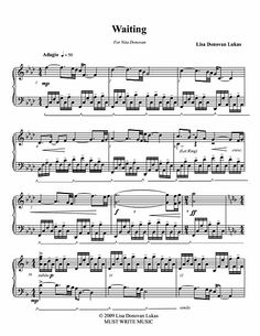 Haunting, contemporary style solo for late intermediate/early advanced pianists, composed by Lisa Donovan Lukas.  For Piano. Secular, 21st Century. Advanced Intermediate. Sheet Music Single, Solo Part. Published by MUST WRITE MUSIC (S0.8858).