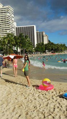 Waikiki beach.