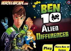 Ben 10 Alien Differences game online