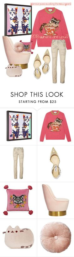 """""""Glamour Puss awaiting the New Year!!"""" by mdfletch ❤ liked on Polyvore featuring Gucci, Faith Connexion, Jimmy Choo, Gund, Nordstrom Rack and glamourpuss"""