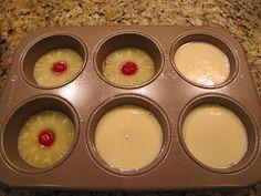 Big Mama's Home Kitchen: Mini Pineapple Upside Down Cakes...