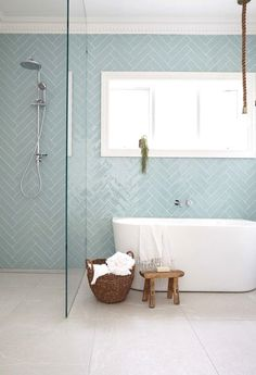 12 Dreamy Bathroom Tile Trends in 2017 is part of Luxury bathroom tiles 12 BATHROOM TILE TRENDS for 2017 Bathroom tiles are practical, durable and can help you to create great design features An i - Bathroom Renos, Laundry In Bathroom, Bathroom Flooring, Bathroom Renovations, Bathroom Grey, Small Bathroom Tiles, Boho Bathroom, Family Bathroom, Bathroom Subway Tiles